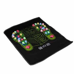 Features: Every one can use it, especiallly middle-age and old people, and those people who sitting to work and study for a long time. It is helpful for the internal organs of body to walk on the plastic stone in healthy foot massage mat. Made of fine quality PP plastics, environmentally friendly and non-toxic, wear-resistant. Easy and convenient to use. Specifications: Color: multicolor Maetrial: PVC Item size: 350 * 350 * 50mm / 13.8 * 13.8 * 2.0in Item weight: 100g / 3.5ounce Package size: 350 * 120 * 70mm / 13.8 * 4.7 * 2.8in Package weight: 110g / 3.9ounce Package list: 1 * Walk Massager Mat
