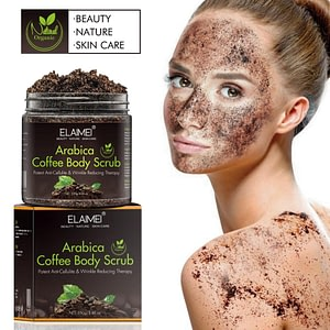 Coffee Body Scrub Cream Facial Dead Sea Salt Exfoliating