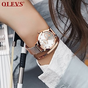 Women Watches with Mesh Bracelet