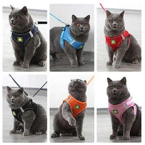 Cat Harness Vest Adjustable Soft Breathable