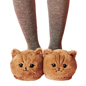 CAT WOMEN PLUSH BEDROOM SLIPPER