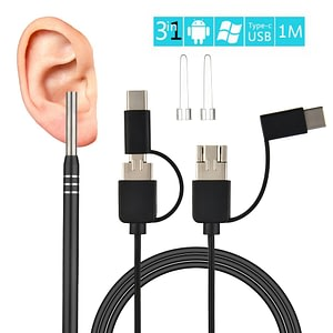 3 in 1 Ear Endoscope HD Visual Otoscope Ear Pick