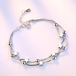 Sterling silver jewelry bracelet retro