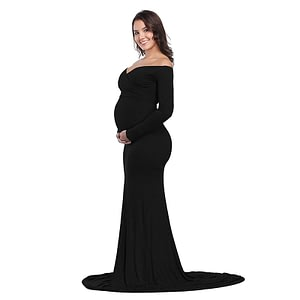 Maternity Elegant Fitted Gown pregnant