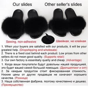 Fur Slides Women Furry Slippers House