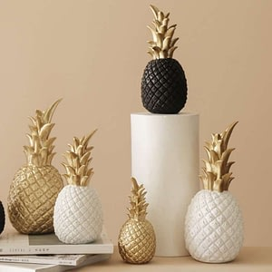Nordic Resin Pineapple Crafts Figurines Living Room
