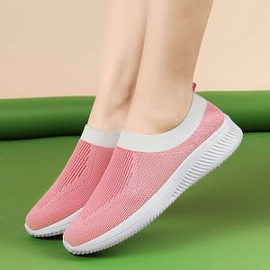 Sneakers Women Casual Black Breathable Mesh Sock