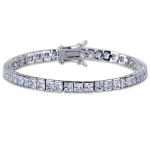 Square Tennis Bracelet Zirconia Hiphop Jewelry