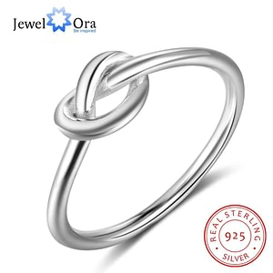 Sterling Silver Knot Rings Finger Jewelry