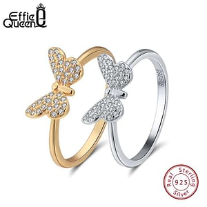 Sterling Silver Rings For Women Butterfly Shape