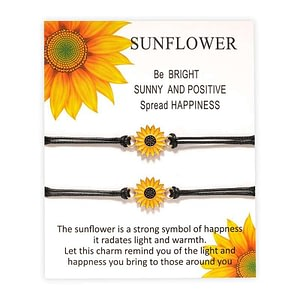 Sunflower Charm Surfing Bracelet For Women