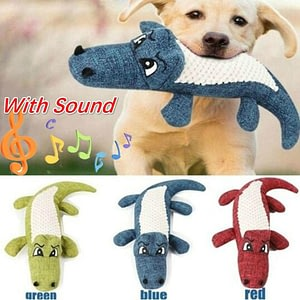Fast delivery 2020 New Pet Dog Toy Linen Plush Animal Toy Dog Chew Squeaky Noise Cleaning Teeth Toy Chew Training Supplies