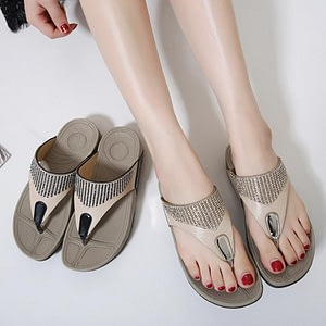 Shoes Flip flops Fashion Summer Sandals Bohemian Wedge Flops Beach Sandals Casual Shoes