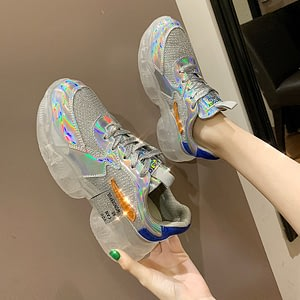 Mixed Colors Shoes Women Sneakers Summer Tenis Feminino Lady Thick Bottom Increase Comfortabe Spadrilles