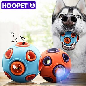 HOOPET Pet Dog Toys Toy Funny Interactive Ball Dog Chew Toy For Dog Ball Of Food Rubber Balls Pets Supplies