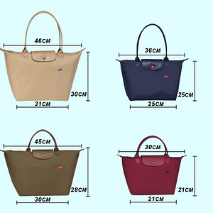 One-shoulder embroidered dumplings bag female Folding waterproof nylon handbag