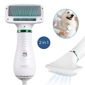 2-In-1 Portable Dog Dryer Dog Hair Dryer And Comb Brush Pet Grooming Cat Hair Comb Dog Fur Blower Low Noise