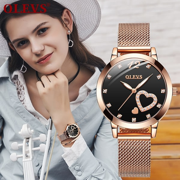 Women Watches with Mesh Bracelet Top Brand