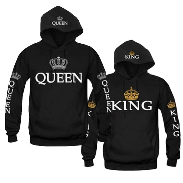 King And Queen Couple Matching Hoodie