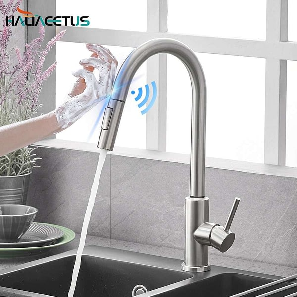 Kitchen Smart Sensor Pull-Out Hot and Cold Water