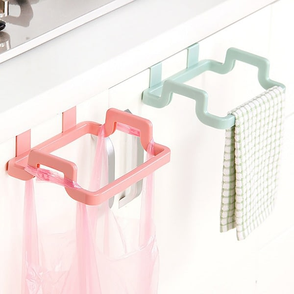 Plastic Garbage Bag Rack Portable Hanging Trash