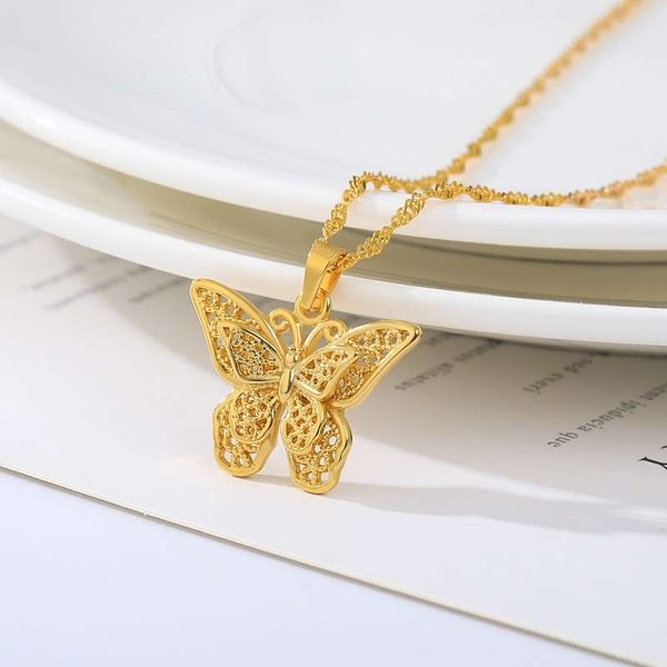 Gold Chain Chocker Female Neck Pendant Necklace