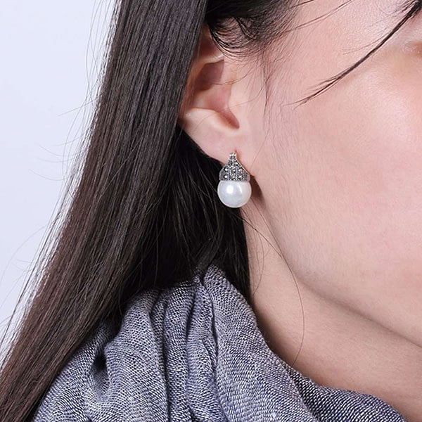 Sterling Silver Natural Mother of Pearl Earrings