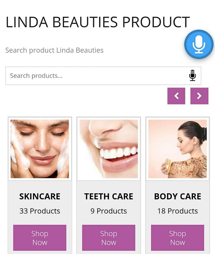 LINDA BEAUTIES KINI ADA VOICE SEARCH