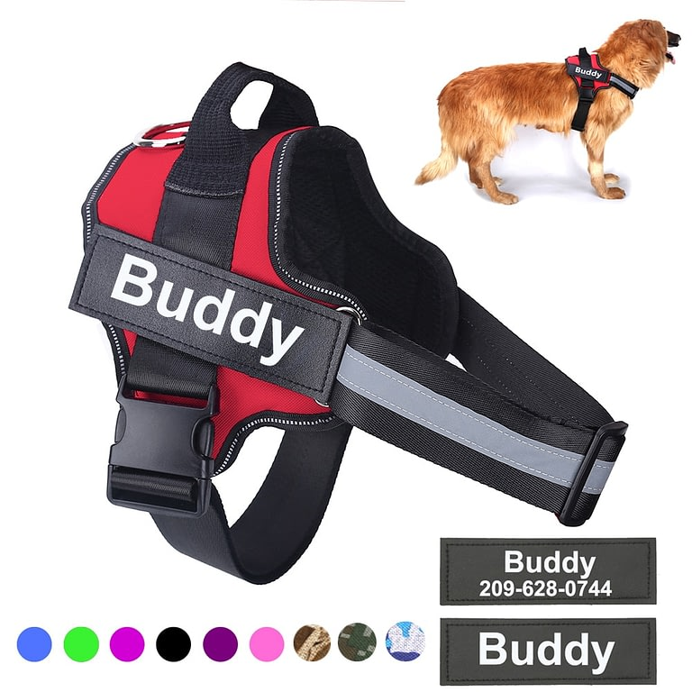 Dog Harness Vest With Custom Patch