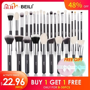 Black Makeup brushes Set Professional
