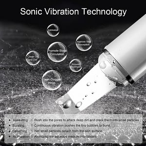 ULTRASONIC SKIN SCRUBBER FACE CLEANING