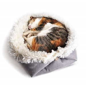 Foldable Pet Cat bed Washable Warm Soft Comfortable