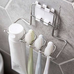 Stainless Steel Toothbrush Wall Holder Rackrust (Silver)