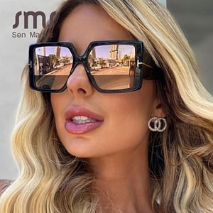 Classic Oversized Square Sunglass Women