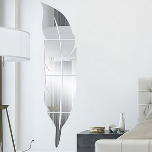 Feather Plume 3D Mirror Wall Sticker home decor