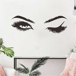 Eye Wink Mural Wall Stickers for Living Room