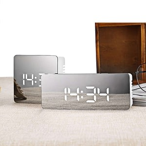 LED Mirror Alarm Clock Digital Clock Wake Up