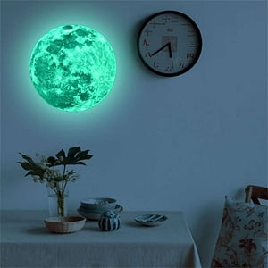 3D Luminous Moon Wall Sticker Glow In The Dark