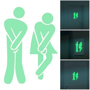 Bathroom Wall Stickers Toilet Home Glow in Dark