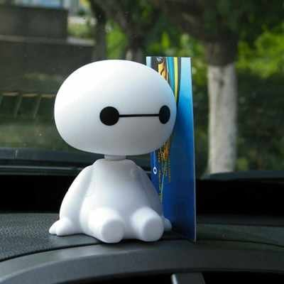 Cute Baymax Robot Shaking Head Doll for Car/Home/Office