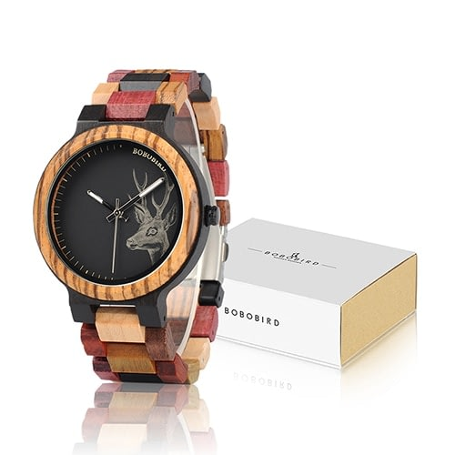 Luxury Lovers' Wooden Couple Watches
