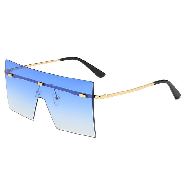Sun Glasses Gradient Large Eyewear Big Shades