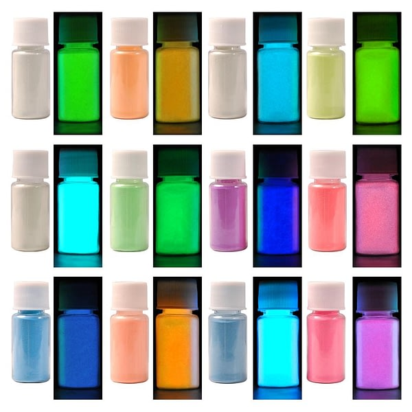 12 Color Glow in The Dark Pigment For Lip Gloss