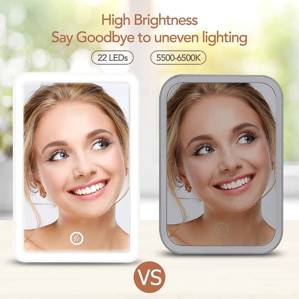 Makeup Mirror with Light USB Touch Dimmer Table