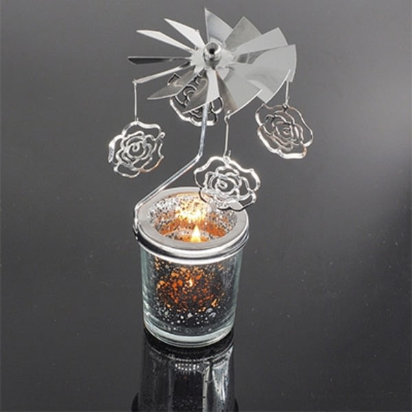 Rotary Spinning Tealight Candle Romantic