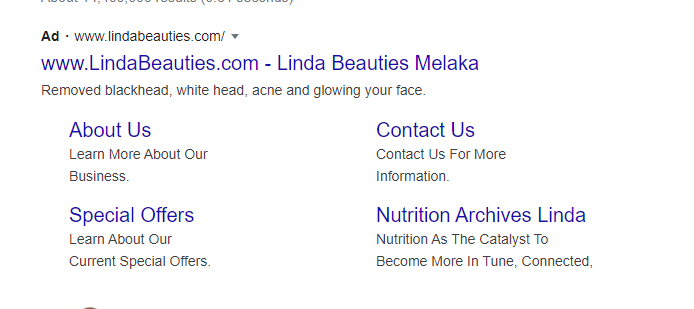 LINDA BEAUTIES DI GOOGLE ADS